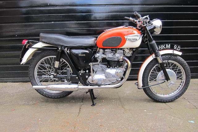 Property of a deceased's estate,1966 Triumph 649cc T120 Bonneville Frame no. DU40110 Engine no. T120 DU40110