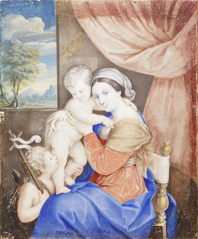 Italian School, 18th Century The Madonna and Child and the Infant Saint John  unframed