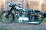 c.1950 Triumph 349cc 3T Frame no. 11067N Engine no. 11067N