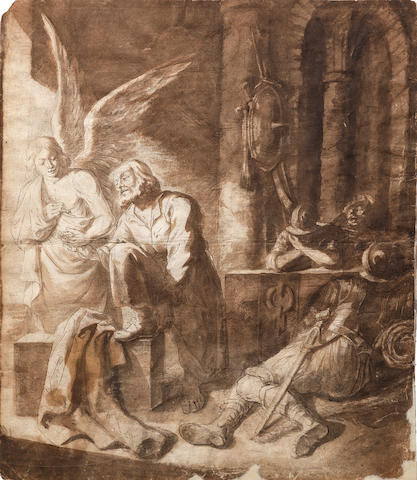 Nikolaus Knüpfer (Leipzig circa 1603-1655 Utrecht) The Liberation of Saint Peter