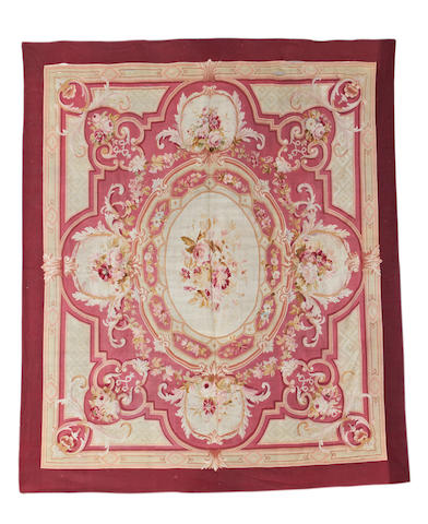 A 19th century Aubusson carpet, France, 402cm x 350cm