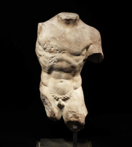 A Hellenistic marble male figure