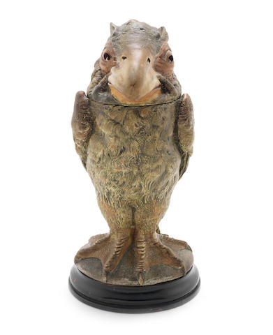 Martin Brothers a Stoneware Bird Jar and Cover, 1898