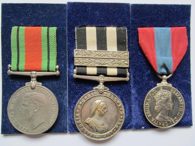 Three to Sergeant W.D.Burns, St.John Ambulance Brigade,
