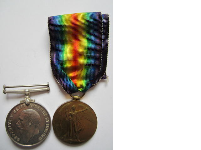 Pair to Lieutenant R.F.Morkill, Royal Flying Corps, late West Yorkshire Regiment,