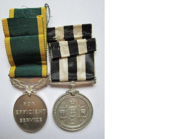 Pair to Warrant Officer J.M.Fitzpatrick, Australian Military Forces,