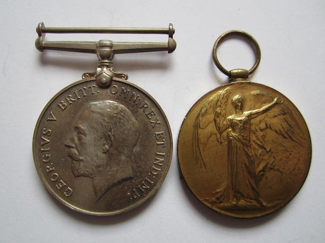 Pair to Major F.E.Stokes, Royal Army Medical Corps,
