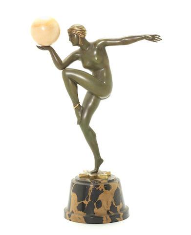 Giraud Riviere  'Stella' a Small Size Art Deco Patinated Bronze Study, circa 1925