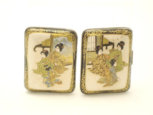 A pair of Satsuma belt buckles Early 20th century