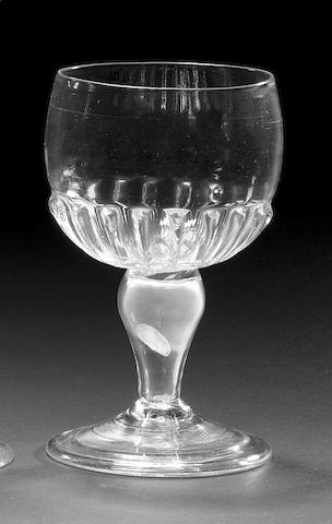 A rare mead coin glass, circa 1700