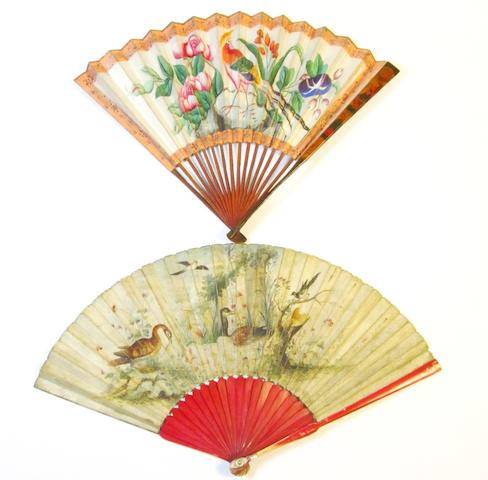 Two folding fans 19th century