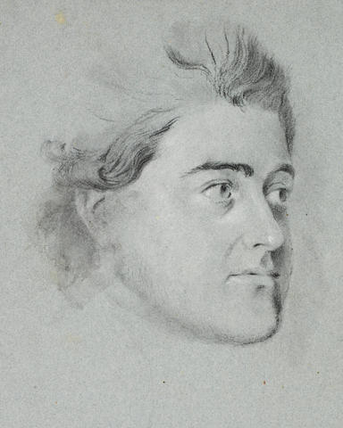 Thomas Kerrich (Norfolk 1748-1828) Portrait study of Peter Delcour, all unframed (quantity)
