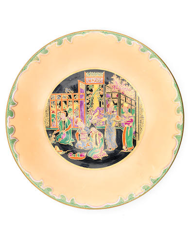 Daisy Makeig-Jones for Wedgwood 'Nizami' a Rare Lincoln Plate, circa 1925