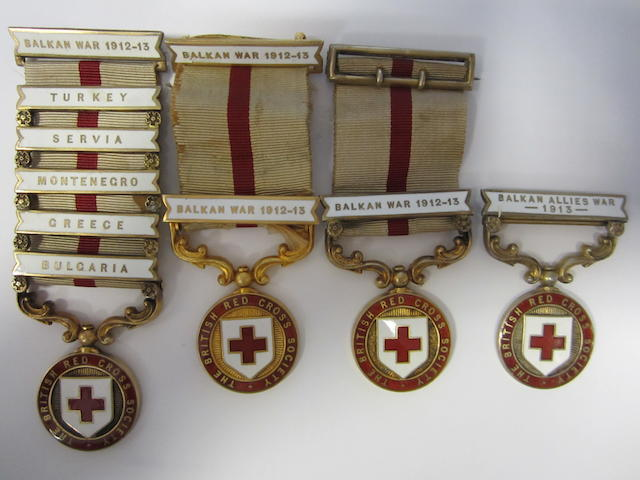 The British Red Cross Society Medal for the Balkan War 1912-13,