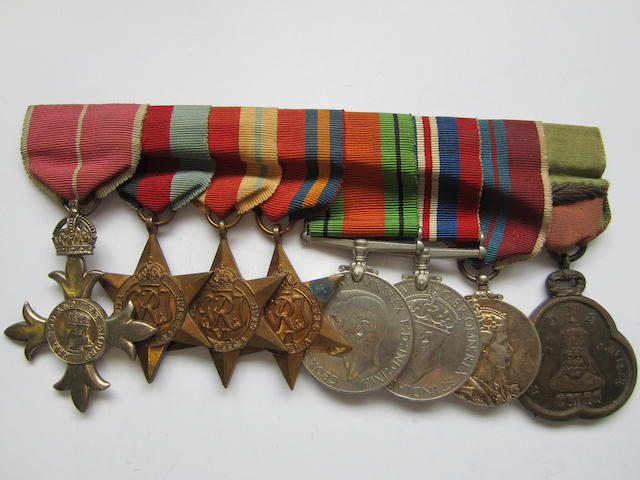 A Second World War M.B.E. group of eight to Honorary Lieutenant Colonel C.B.Drew, Royal Army Medical Corps,