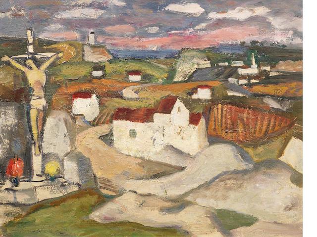 Anne Estelle Rice (American, 1879-1959) Brittany Landscape 40.6 x 50.8 cm. (16 x 20 in.)
