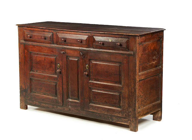 A George II oak dresser base Circa 1750