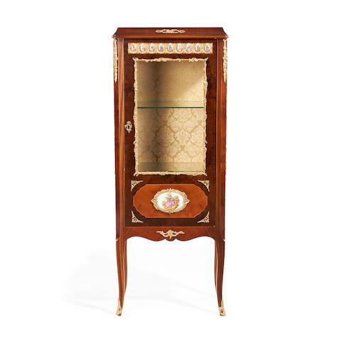 A small Louis XVI style walnut vitrine