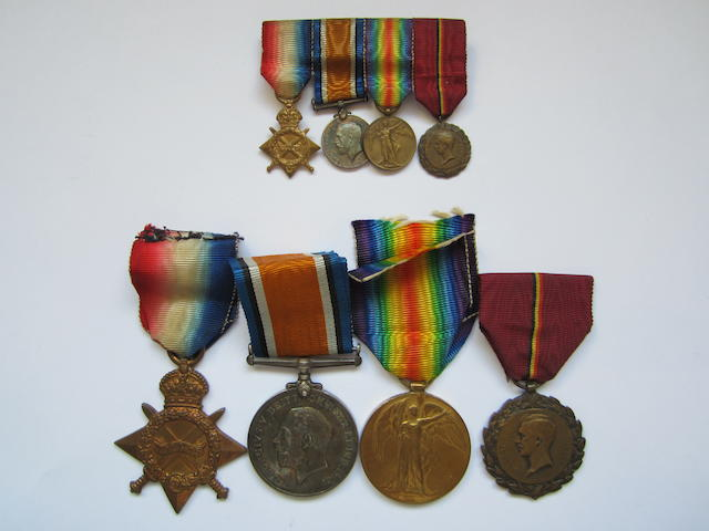 Four to Lieutenant F.J.Sadler, Royal Army Medical Corps,