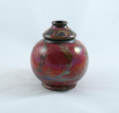 A Pilkingtons Royal Lancastrian lustre vase, by Richard Joyce Circa 1910