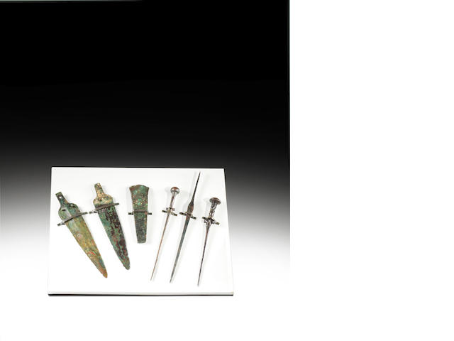 A SET OF SIX BRONZE WEAPONS FIRST MILLENIUM  BC - A.D.