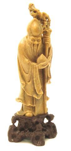 A soapstone figure of Shoulao