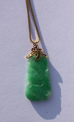 A jade pendant necklace