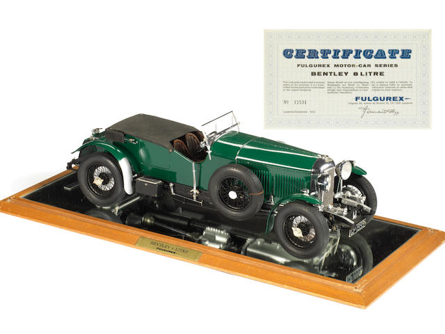 A rare 1:12 scale model of a 1930 8 Litre Bentley by Fulgurex, Swiss, 1972,