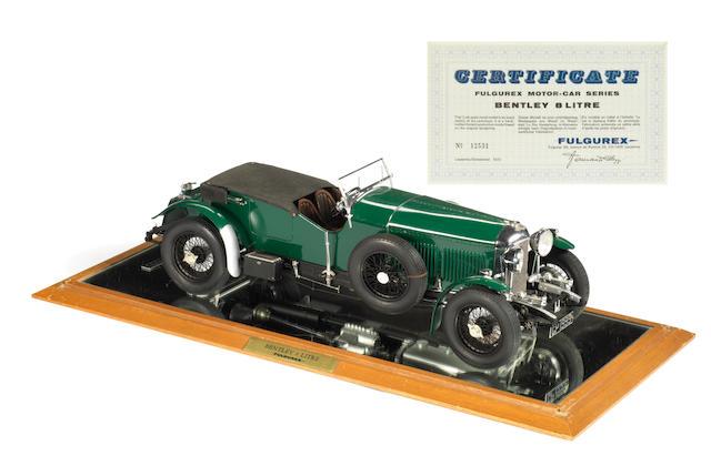 A rare 1:12 scale model of a 1930 8 Litre Bentley by Fulgurex, Swiss, 1972,