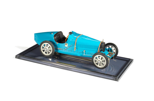 A 1:8 scale model of Bugatti type 35 Grand Prix de Lyon 1924  by Art Collection Auto, France,