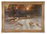Joseph Farquharson, RA (British, 1846-1935) The Shortening Winter's Day is near a Close 82 x 119.25 cm. (32 5/16 x 46 15/16 in.)