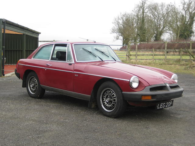 1975 MGB GT V8 Coupé, Chassis no. to be advised Engine no. to be advised