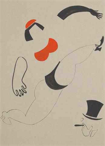Vladimir Vasilievich Lebedev (Russian, 1891-1967) Cabaret dancer