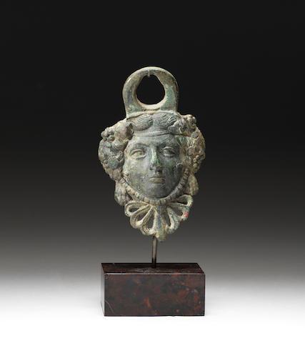 A Roman bronze appliqué