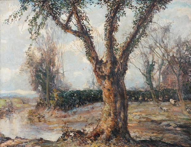 Alexander Jamieson ROI (British, 1873-1937) Hard Frost 87 x 113cm. (34 1/4 x 44 1/2in.)