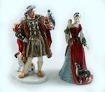 A collection of Royal Doulton limited edition Henry VIII and his wives figures