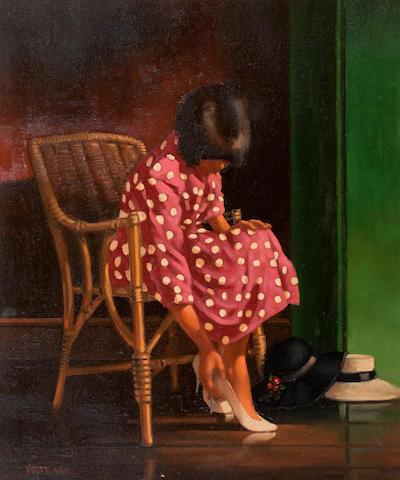 Jack Vettriano OBE Hon LLD (British, born 1951) 61 x 52 cm. (24 x 20 1/2 in.)