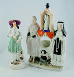A collection of Staffordshire figures Mid 19th century
