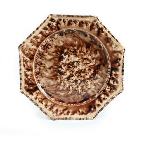 A Staffordshire lead-glazed plate, circa 1770-80