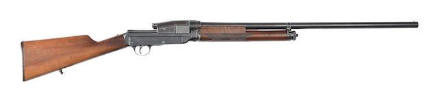 A Sjögren-patent 12-bore self-loading gun by Haandvaabenværkstegerne Kjøbenhavn, no. 4425