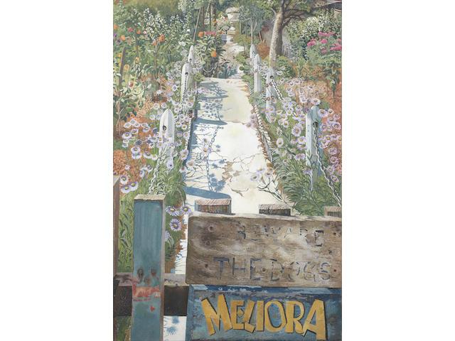 Sir Stanley Spencer R.A. (British, 1891-1959) Garden Path, Cookham Rise 76.2 x 50.8 cm. (30 x 20 in.)