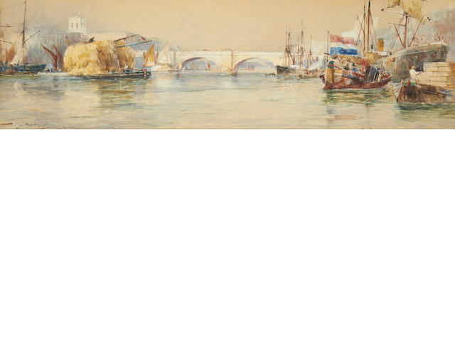 Thomas Bush Hardy (British, 1842-1897) 'London Bridge'