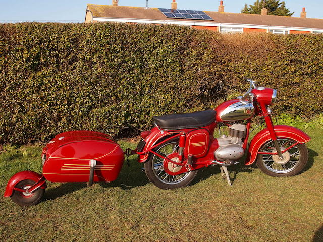 1969 CZ 175cc 450 and Pav trailer