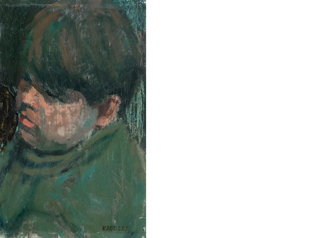 Joan Eardley RSA (British, 1921-1963) Head of a boy 28.5 x 18.5 cm. (11 1/4 x 7 5/16 in.)