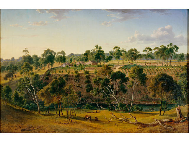 Eugene von Guerard, The Farm of Mr Perry on the Yarra, 1855 Estimate $900,000 - $1.2m