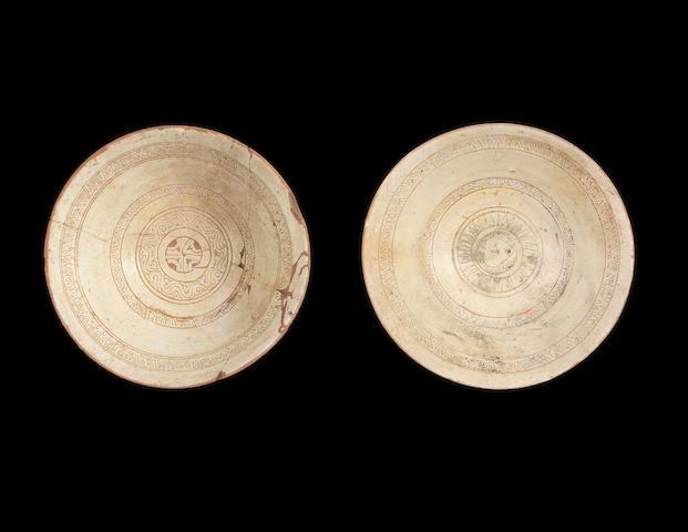 Two Byzantine sgraffiato pottery Bowls 12th Century(2)