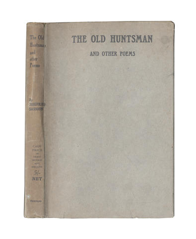 SASSOON (SIEGFRIED) The Old Huntsman, 1917; and others (5)