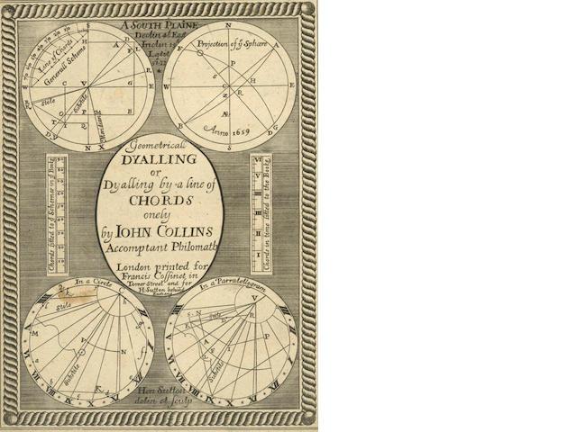 COLLINS (JOHN) Geometricall Dyalling, 1659
