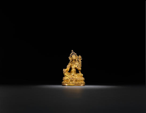 A gilt-bronze Tara Mongolia, 18th century