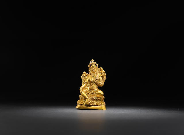 A gilt-bronze Green Tara Qing dynasty, 18th century